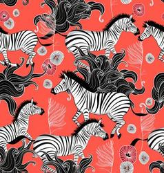 pattern of running zebras vector image