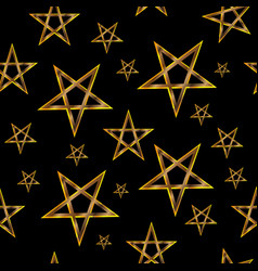 pentagram seamless pattern vector image