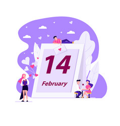 people valentines day vector image