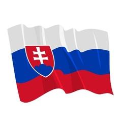 Political waving flag of slovakia vector