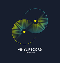 poster of the vinyl record music on vector image