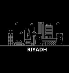 Riyadh silhouette skyline saudi arabia - riyadh vector