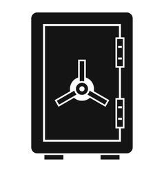 Safe icon simple style vector image