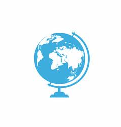 school globe icon isolated on white background vector image