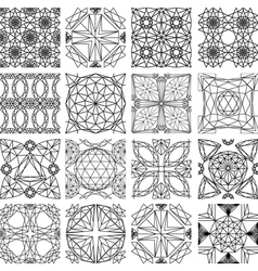 Seamless pattern from diamond cutting vector image