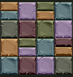 seamless texture colored square stone vector image