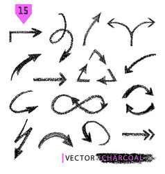 Set of grunge arrows vector
