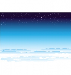 sky and space vector image