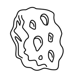 Space asteroid icon outline style vector