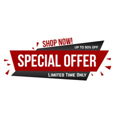 special offer banner design vector image