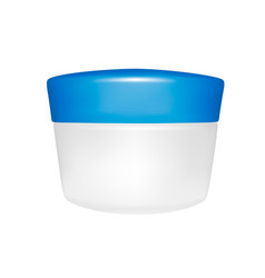 the cream container in the vector image