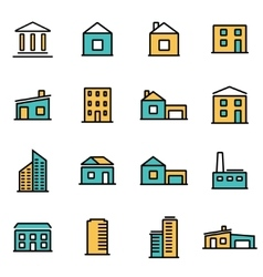 trendy flat line icon pack for designers vector image