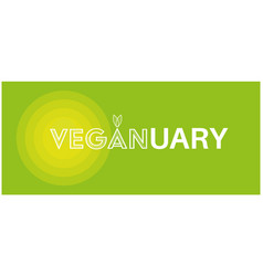 veganuary drawing on a white background vector image
