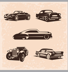 Vintage car set 5 high quality image the vector