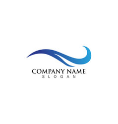 water wave logo template design vector image