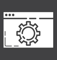 Web optimization glyph icon seo and development vector