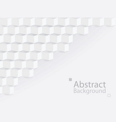white gray abstract background square 3d modern vector image