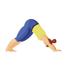 young plus size woman does yoga morning yoga vector image