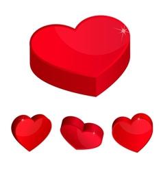3d hearts vector image