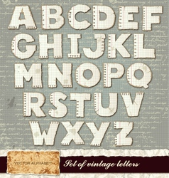 detailed alphabet vector image