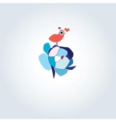 enamored bird vector image vector image