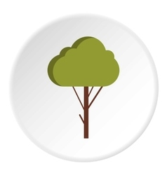 Fluffy tree icon flat style vector image vector image