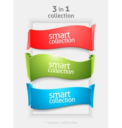 Ribbon and banner collection vector image