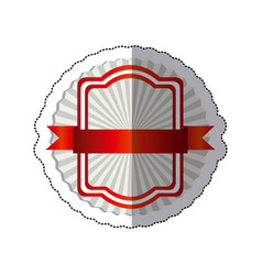 sticker radial background with red rectangle vector image