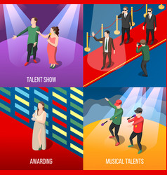 Talents and awards isometric concept vector