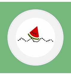Watermelon boat vector image