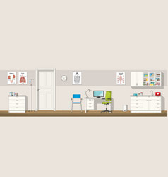 a doctor office panorama vector image vector image