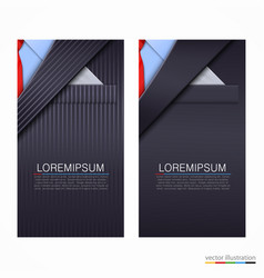business cards with suit vector image
