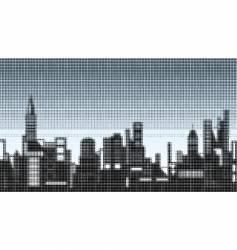 halftone skyline vector image vector image