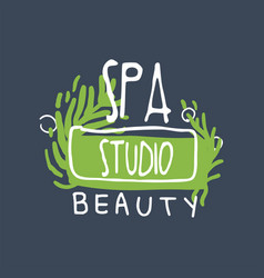 spa beauty studio logo health and beauty care vector image vector image