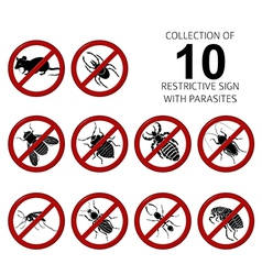 Collection of 10 parasites vector image