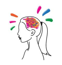 Creative mind hand drawn icon vector image vector image