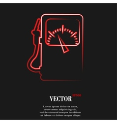 Gas fuel station Flat modern web button and space vector image