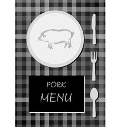pork menu vector image vector image