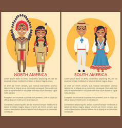 South and north america people culture and customs vector