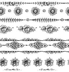 Vintage seamless border vector image vector image