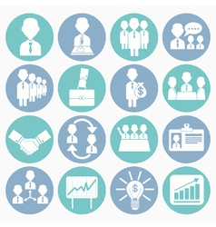 white icons business vector image vector image