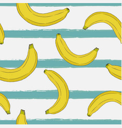 banana hand draw sketch seamless pattern vector image