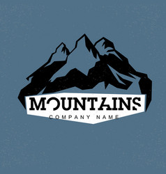 blue peaks mountains abstract logo for vector image