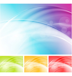 Colourful waves abstract design vector image