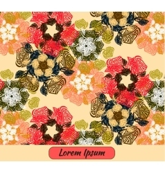 Flower art template card frame vector image