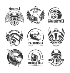 Motorcycle Helmet Design Elements Set vector image vector image