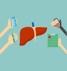 Treatment of liver vector