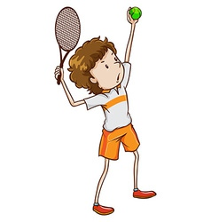 A young tennis enthusiast vector