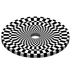 Abstract geometric monochrome checkered circle vector