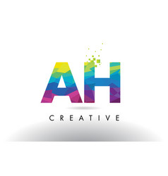 Ah a h colorful letter origami triangles design vector